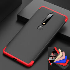 For Nokia 6.1 (6 2018) 7 Plus Luxury Shockproof Hard PC 3 in 1 Hybrid Case Cover