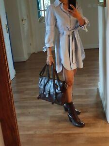 M&S Lge Tote Shoulder Satchel Multiway Brown Leather Office Work bag handbag vgc