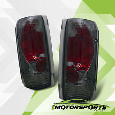 {Factory Style} 1989-1996 Ford F150/F250/F350 Bronco Smoke Tail Lights Pair