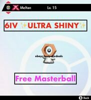 -Pokemon Sword and Shield- ✨Ultra Shiny✨ 6IV GMAX Meltan FAST DELIVERY