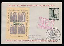 1961 Austria R-1 rocket mail souvenir cover - Schmiedl R-1 sheet - 36C1