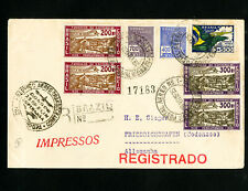 Brazil Backstamped Zeppelin Flight Cover To South America