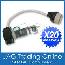 20x 240V GU10 DOWNLIGHT LAMP HOLDER SOCKETS-Connector/Adaptor/Fixture Lampholder