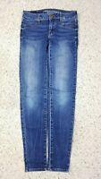 American Eagle Women's Jegging Super Stretch Faux Pockets Blue Jeans 00 Regular