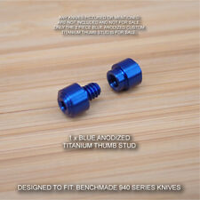Benchmade 940-1 Osborne Knife 2 PC Custom Titanium Thumb Stud Set Anodized BLUE