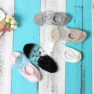 3 Pairs Sexy Mesh Ankle Socks Ladies Stretchy Lace Fishnet Sock Womens Thin Fibe