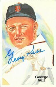 Autographed Post Card Baseball Hall of Fame George Kell 1980s
