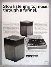 Harman Kardon Turntable & Speakers PRINT AD - 1969