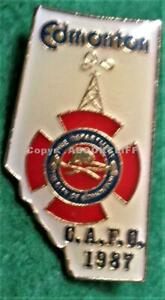 FIRE CHIEFS 1987 CONFERENCE EDMONTON C.A.F.C. Pin MINT