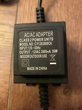 Ac/Ac Adapter Class 2 Power Unit Model Cy1203000C6 In 120-60Hz Out 12vac 3000mA