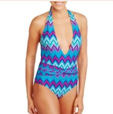Marilyn Monroe Women's Deep Plunge Halter One-Piece Swimsuit 1X New With Tags!!!