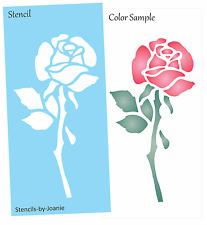 Joanie STENCIL Rose Flower Stem Leaves Garden Porch Floral Shop Craft Art Signs