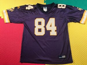Randy Moss Minnesota Vikings #84 Purple Adidas Jersey Youth Size 14-16 Nice
