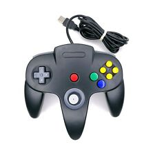 Unbranded Nintendo N64 Wired USB Controller for PC Black Classic - Tested