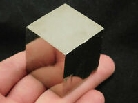 A Big! Nice and 100% Natural Cubic Pyrite Crystal CUBE From Spain! 265gr