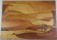 1963 Abstract Expressionist Oil Painting Desert Sun by Robinson Murray Listed