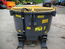 1200L / 1800L TRACTOR MOUNTED HYDRAULIC DRIVEN PAN MIXER PALLET FORK MOUNT