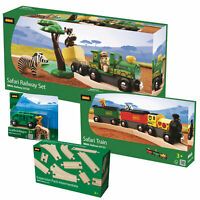 BRIO 33720 Wooden Railway Safari Combo Set inc Train, Animals & Track Pack!