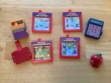 Amazing Ally Interactive Doll Let's play School cartridges crayon calculator 8pc