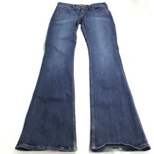 Hudson Women Jeans 28 Dark Wash Midrise Bootcut Flap Back Pockets Cotton Stretch