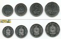 NEW SERIES 2017 SRI LANKA 4 COIN SET 1,2,5,10 RUPEE UNC UNCIRCULATE