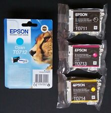 Genuine Epson T0715 Cheetah Ink Cartridges Multipack T0711 T0712 T0713 T0714