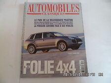 AUTOMOBILES CLASSIQUES N°123 07/2002 PORSCHE CAYENNE TURBO SALON 4X4    K32