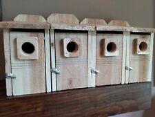 4 Bluebird Houses- Rough sawn cedar