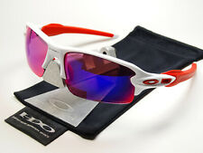 Oakley Flak Jacket 2.0 White Red Prizm Road Sonnenbrille Racing Fast Straight XX