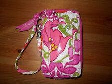VERA BRADLEY Carry It All Wristlet, EUC, White,pinks & green. Very cute!