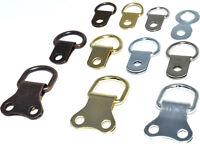 D RINGS FRAMING HANGING PICTURE FRAME HANG D-RINGS & SCREWS NICKEL BRASS BRONZE
