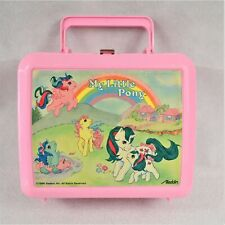 Vintage 1986 Aladdin My Little Pony Pink Lunchbox No Thermos Preowned