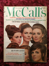 MCCALL'S January 1965 TOP MODEL HAIRDOS DUTCH FASHIONS Will Stanton
