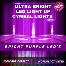 LIGHTENING BOLTZ- MEGA BRIGHT PURPLE LIGHT UP CYMBAL LIGHT VIBRATION SENSITIVE