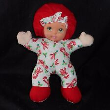 MATTEL ARCO LOVABLE BABIES CHRISTMAS CANDY CANE BABY DOLL STUFFED ANIMAL PLUSH