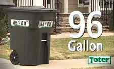 96 Gallon Wheeled Green Trash Waste Garbage Container Can Bin Lid Heavy Duty New