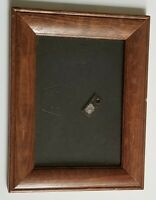 5x7 Picture Photo Frame Brown Wood Hanging Frame
