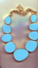 KENNETH LANE TURQUOISE EPOXY BIB NECKLACE