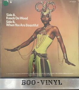 "Amii Stewart Knock On Wood 12"" Clear  Vinyl Record UK Disco Soul  EX / EX"