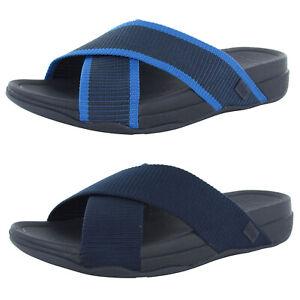 Fitflop Mens Surfer Slide Cross Strap Sandal Shoes
