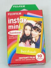 AU - Fuji  Instax Mini Rainbow Film 7s 8 25 50s 90 Polaroid 300  Share SP-1