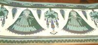 Victorian Wallpaper Border Green Rope Tassel Gold Trim Saquara Beige Cream PV712