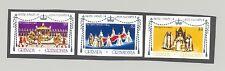 Grenada Grenadines 1977 Silver Jubilee Queen Elizabeth 3v. imperf proofs mounted