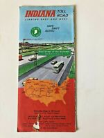 Vintage Indiana Toll Road Map 1969