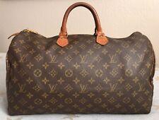 "Vtg Louis Vuitton Speedy 40 LV MonogramUSA Seller ""SD"" Date Code Brown Tan!"