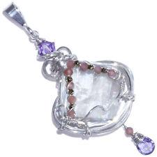 Petalite Crystal Sterling Handmade Pendant