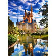"DIY 5D Diamond Painting Kit Walt Disney World Round Full Drill Crystal 16""X12"""