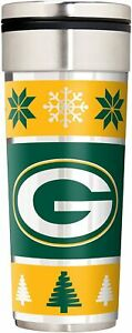 """Green Bay Packers 22 oz Travel Tumbler """"Ugly Sweater"""""""