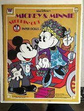 Walt Disney's Mickey & Minnie paper dolls softcover book (1977) Whitman