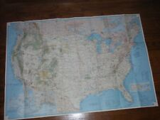 National Geographic Vacation Lands Of the United States Map July 1966